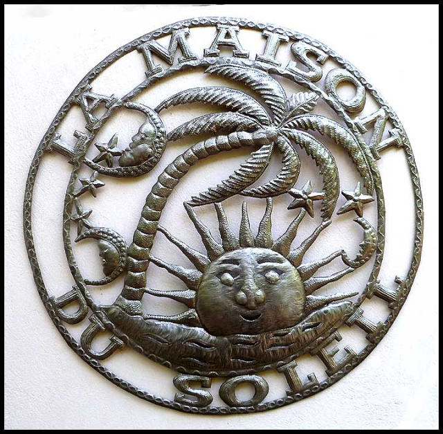 metal art sun wall hanging