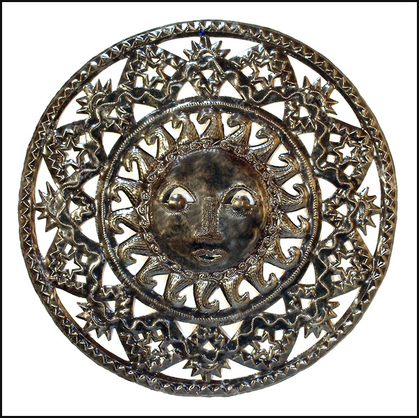 Metal sun wall hanging