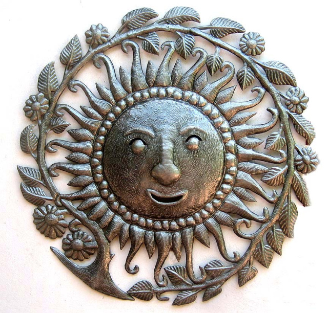 Metal sun wall art, Haiti Metal Art