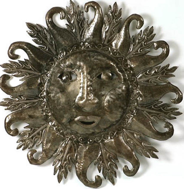 Metal sun wall art. Haiti Metal Art