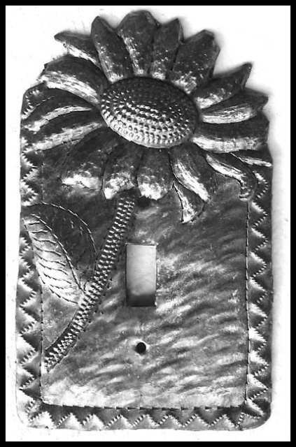Switch plate covers, Light switch cover - Sunflower Design - Haiti Metal Art