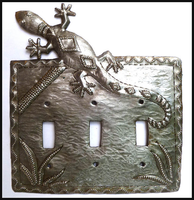 Metal swtichplate cover - 3 holes - Light switch cover