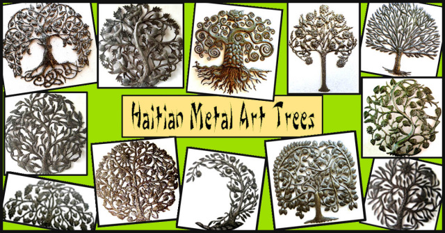 Trees metal wall art - Haitian metal art