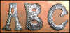 Haitian Steel Drum Letters - Initials - Perfect for Addresses - 12""
