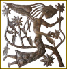 Angel Metal Wall Hanging - Handcrafted Haitian Recycled Steel Drum Art - 24""