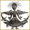 Metal Angel Wall Hanging, Little Angel Girl, Haitian Recycled Steel Drum Art - 24""