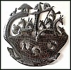 "Noah's Ark Metal Art Sculpture - Steel Drum Metal Art of Haiti  - 24"" x 24"""
