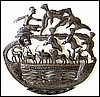 Noah's Ark - Haitian Recycled Steel Drum Metal Drum Art - 24""