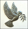 Peace Dove Metal Wall Hanging - Recycled Haitian Steel Drum Art - Haiti Metal Art, 18""