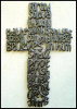 Metal Cross - Bible Scripture - John 3:15, Haiti Metal Art, Metal Wall Hanging - 25""