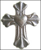 "6 Decorative Handcrafted Haitian Metal Crosses - 12"" x 9 1/2"""
