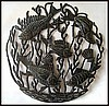 Handcrafted Haitian Metal Art Fish Wall Hanging - Recycled Steel Drum -24""