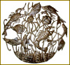 "Fish Wall Metal Fish Wall Art, Handcut Steel Drum Metal Art - 24"" x 30"""