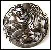 Haitian Metal Art, Metal Wall Decor, Mermaid Steel Drum Art, Metal Wall Art, Wall Hanging - 24""