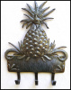 Pineapple Metal Art Wall Hook, Haitian Steel Drum Metal Art