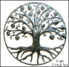Haitian Metal Tree Wall Decor, Handcrafted Metal Wall Art, Haitian Steel Drum Art