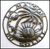 Metal Art Sun Design, Sun Metal Wall Hanging, Haitian Steel Drum Metal Art - 30""
