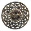 Sun Metal Wall Decor, Haiti Metal Art, Handcrafted Recycled Steel Drum - 34""