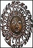 Haitian Drum Art - Sun Face - Metal Art Wall Hanging -  Metal Art - 34""