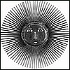 Metal Sun Design Wall Hanging, Metal Wall Art, Haitian Steel Drum Metal Art - 34""