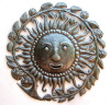 Metal Sun Wall Decor, Metal Wall Art, Recycled Steel Drum, Metal Art of Haiti - 34""