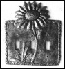 Metal Switch plate covers, Light switch cover - Sunflower Design - 3 Holes