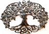 "Haitian Metal Art Tree Wall Hanging, Haitian Art, Metal Wall Hanging, Recycled Steel Drum Art, Metal Wall Art,  28"" x 40"","