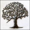 "Tree Design Metal Wall Hanging,Tree of Life, Metal Art of Haiti, Haitian Steel Drum Art - 34"" x 34"""