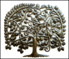 "Metal Wall Decor, Tree of Life, Metal Wall Hanging, Outdoor Metal Art, Haitian Metal Art, Steel Drum Wall Decor - 29"" x 34"""