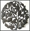 "Grape Steel Drum Wall Decor - Haitian Metal Sculpture - 24"" Metal Art"